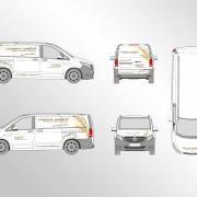 Fahrzeugbeschriftung Vito Entwurf