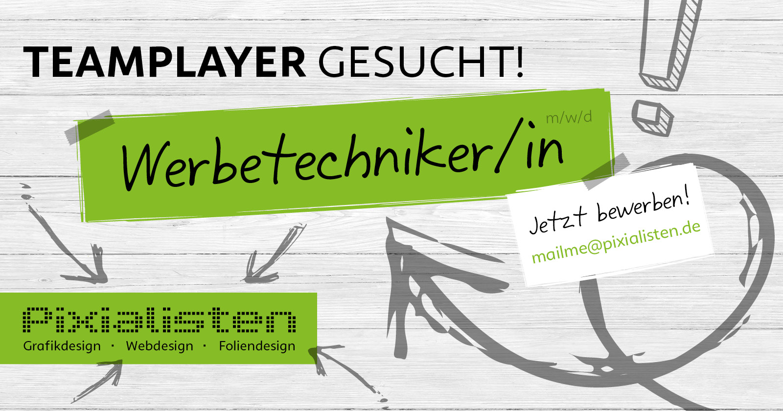 Teamplayer gesucht! Werbetechniker m/w/d – jetzt bewerben!
